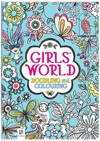 Girls' World Doodling and Colouring Book