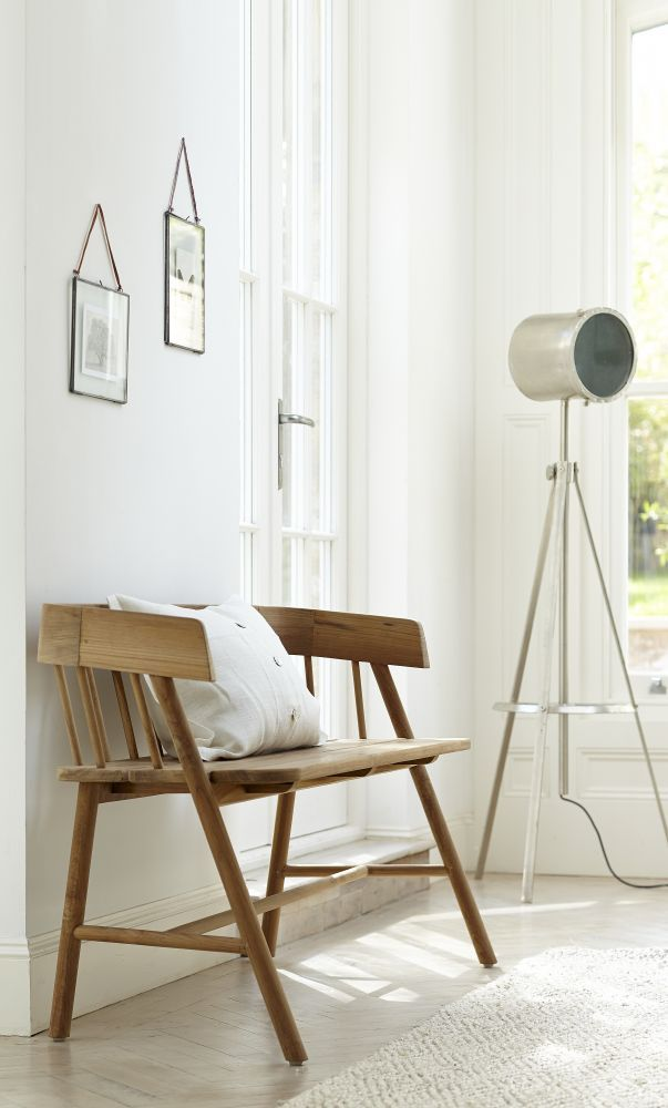 the diagonal lines of this modern wooden bench echo the shape of the rh pinterest com