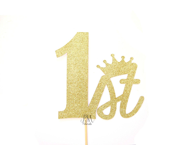 1st Birthday Crown Glitter Cake Topper - crown cake topper ...