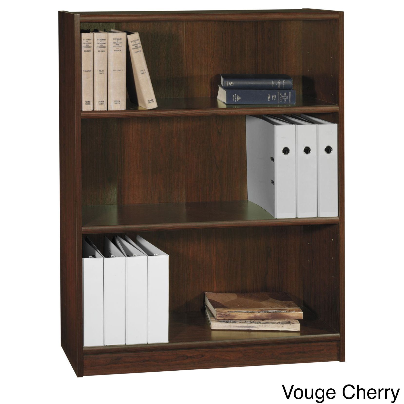 Bush Furniture Universal 3 Shelf Bookcase Bookcase, 3