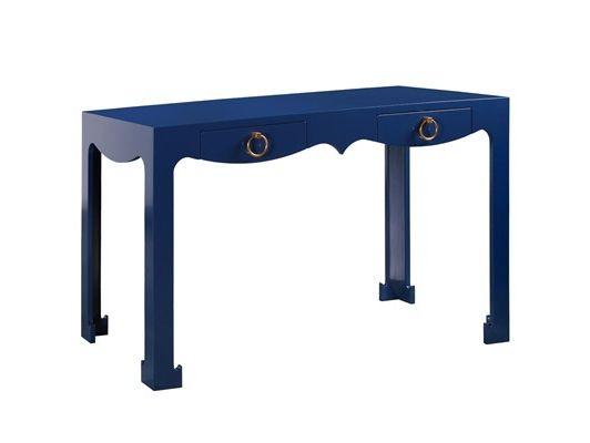 bungalow 5 jacqui navy console desk furniture home office design rh pinterest com