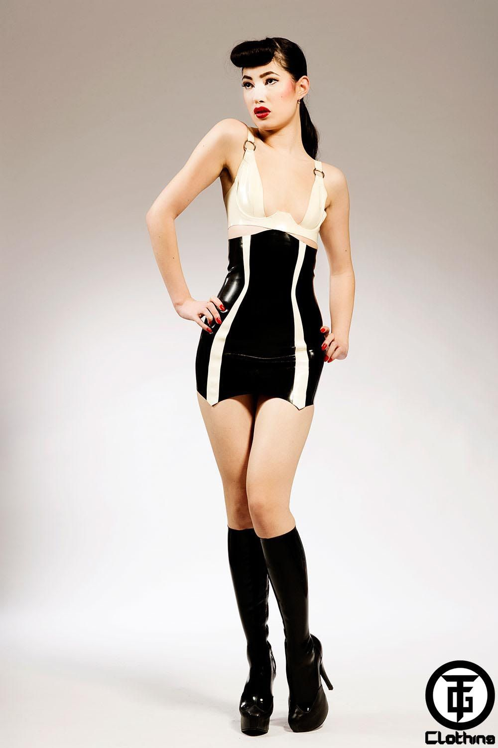 Latex Letter%0A TG BEETLE High Waist Latex Rubber Skirt by HOUSEofHARLOT on Etsy