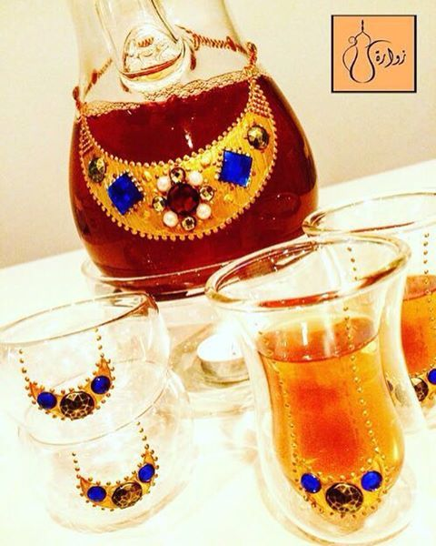 Zwara Bahrain On Instagram البحرين الكويت السعودية قطر الإمارات سلطنة عمان الرفاع طقم رسم دلال فناجي Glass Painting Glass Art Hobbies And Crafts