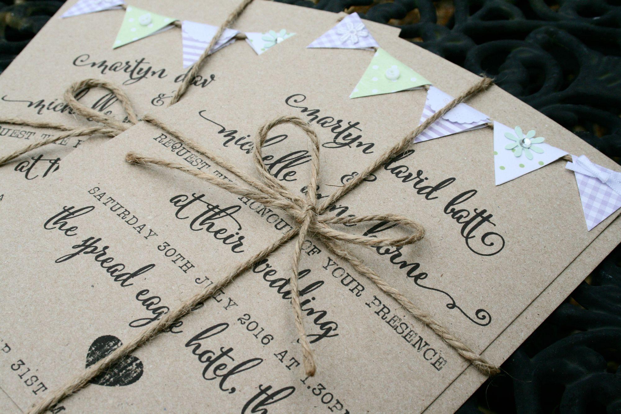 wedding invitations atlanta%0A Happily Ever After Vintage Bunting Wedding Invitations  Purple and Mint  www facebook com