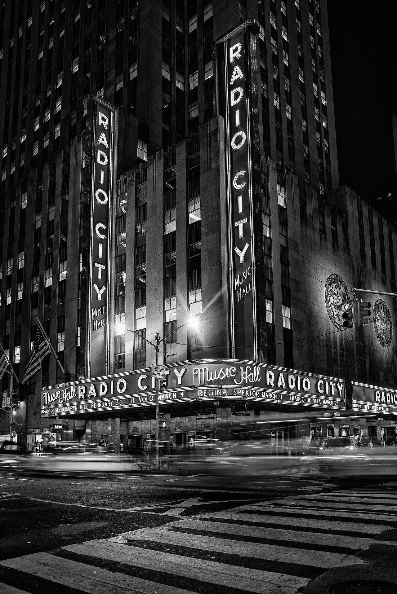 Radio city music hall black and white nights by alexander marte reyes