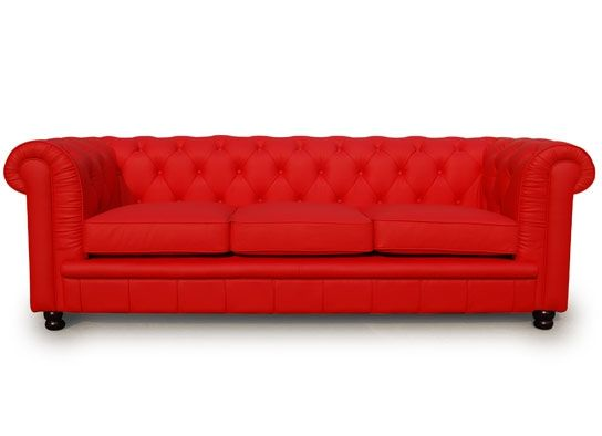 canap chesterfield 3 places en crote de cuir rouge wwwespaceadesigncom - Canape Chesterfield Rouge Cuir