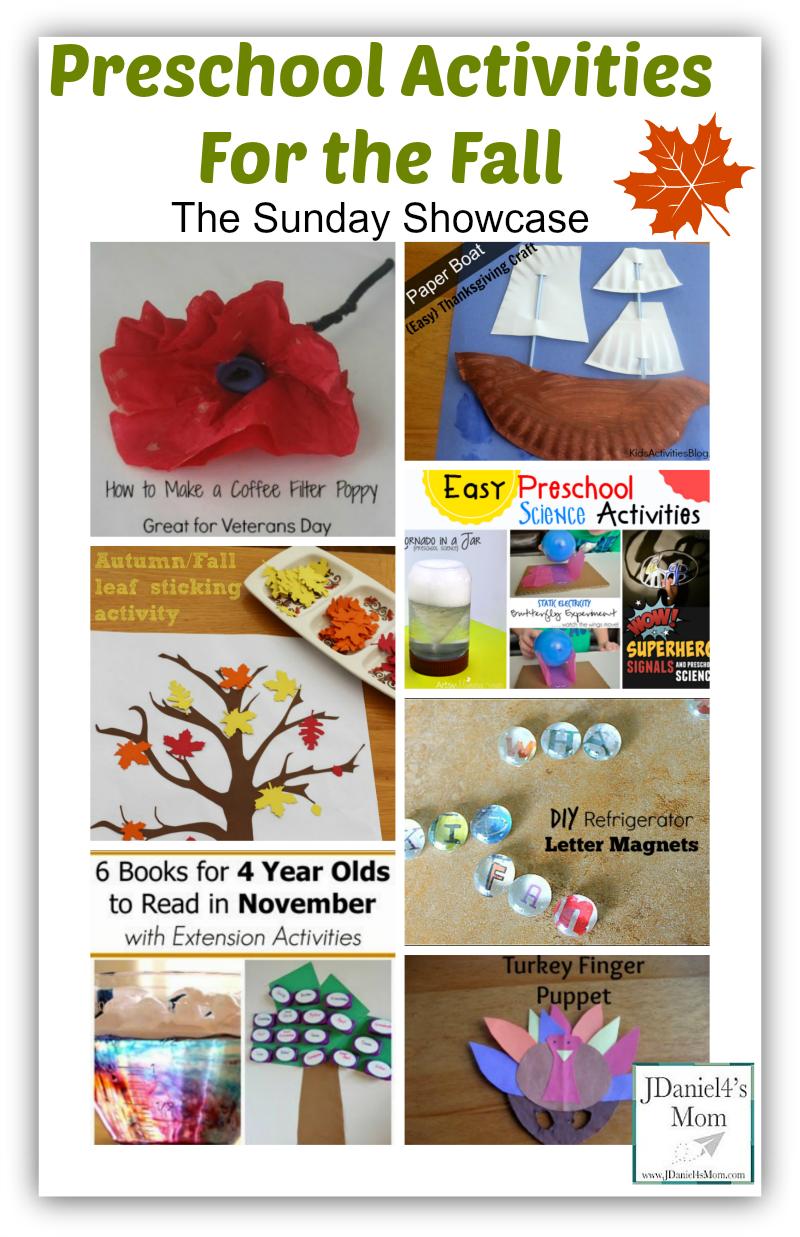 Preschool Activities For the Fall