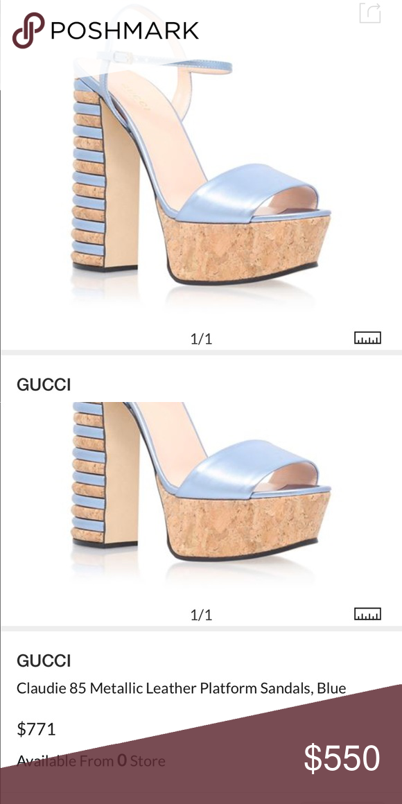 fbb4748b70d Gucci Claudie 85 metallic platform sold out! Gucci reinvents summer party  style with the towering Claudie sandal