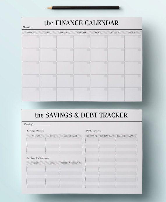 photo regarding Printable Financial Planner named A4 Price range Planner Package Printable Monetary through