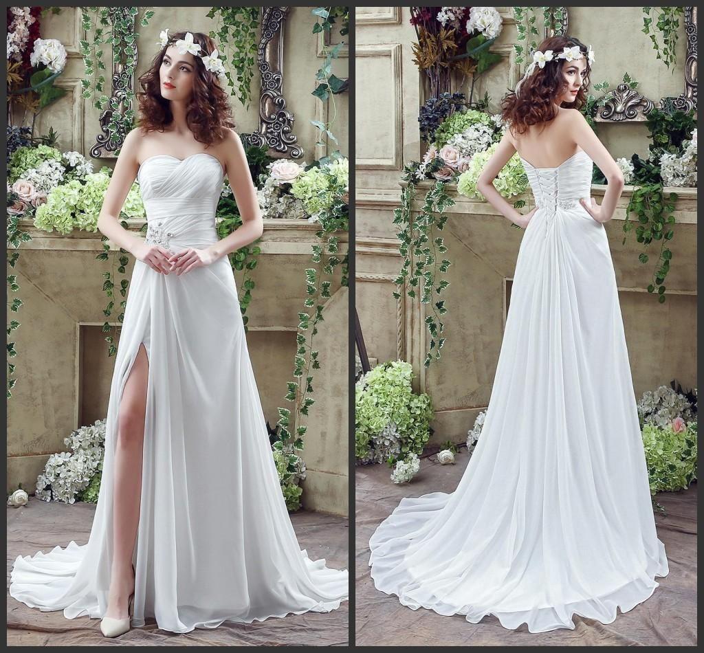 boho chiffon wedding dress plus size dresses for wedding