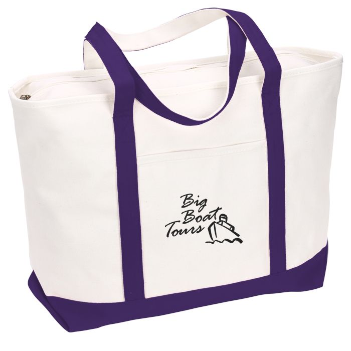 78a697210e1 4imprint.com: Large Heavyweight Cotton Canvas Boat Tote - Screen - 24 hr  114308-S-24HR