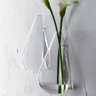 Wall Mounted Teardrop Vase Glass Wall Vase Wall Mounted Vase Wall Vase