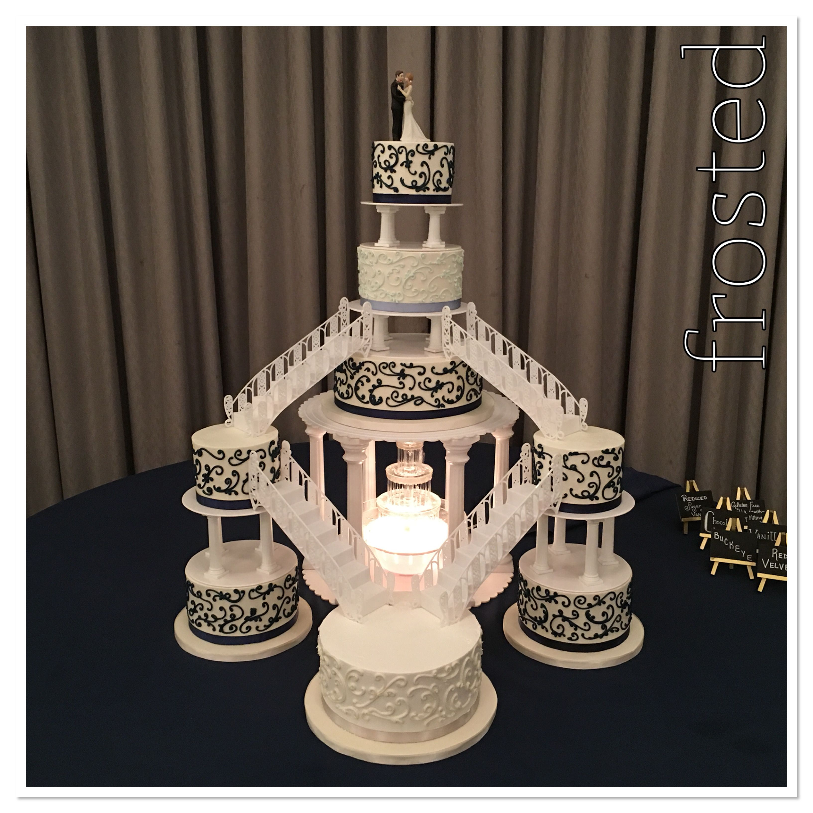 Wedding Cake with Fountain and Staircase in 2020