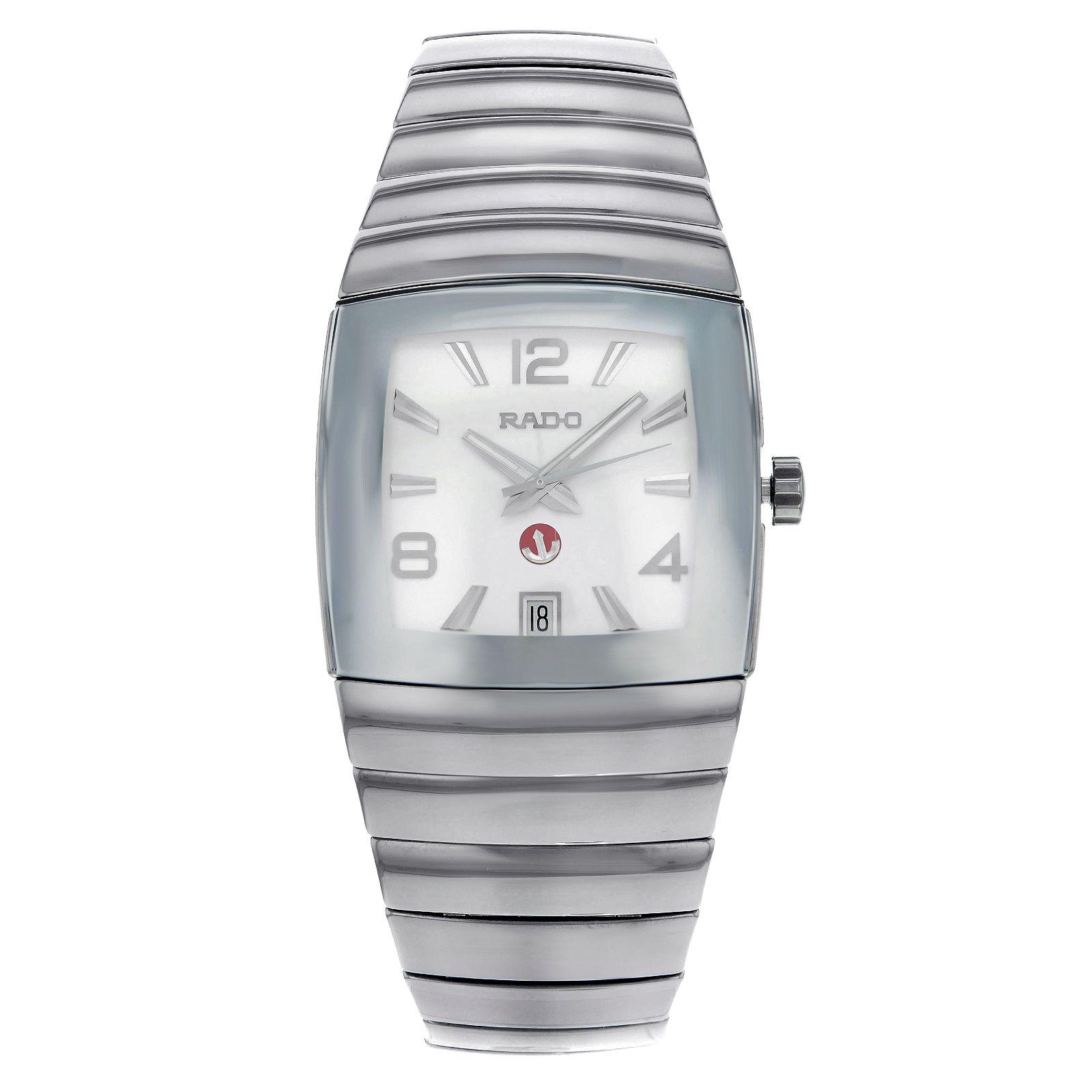 auction rado sintra jubile r13690102 platinum tone ceramic auction rado sintra jubile r13690102 platinum tone ceramic automatic mens watch