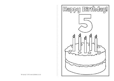 Birthday Card Colouring Templates Sb  Sparklebox
