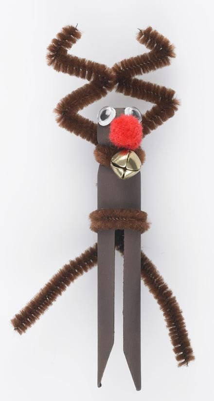 Wooden Dolly Pegs Reindeer Project The Spotlight Inspiration