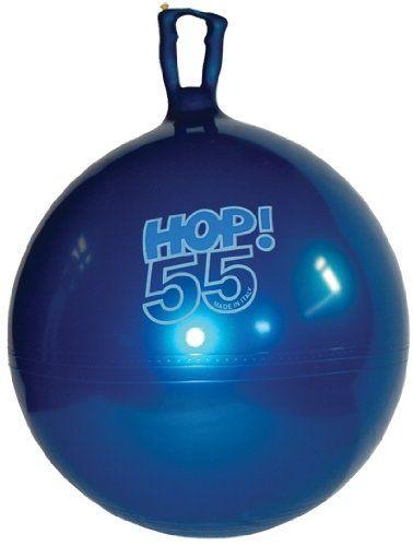 Amazon Com Gymnic Hop 55 22 Hop Ball Metallic Blue