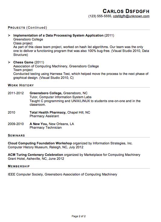 functional resume sample  it internship