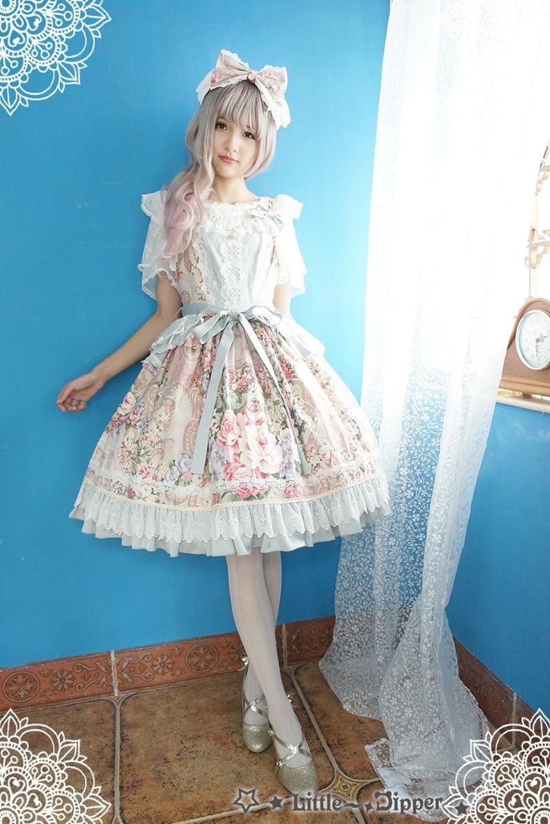 Little Dipper -Rose Lake- Classic Lolita Jumper Dress | Lolita ...