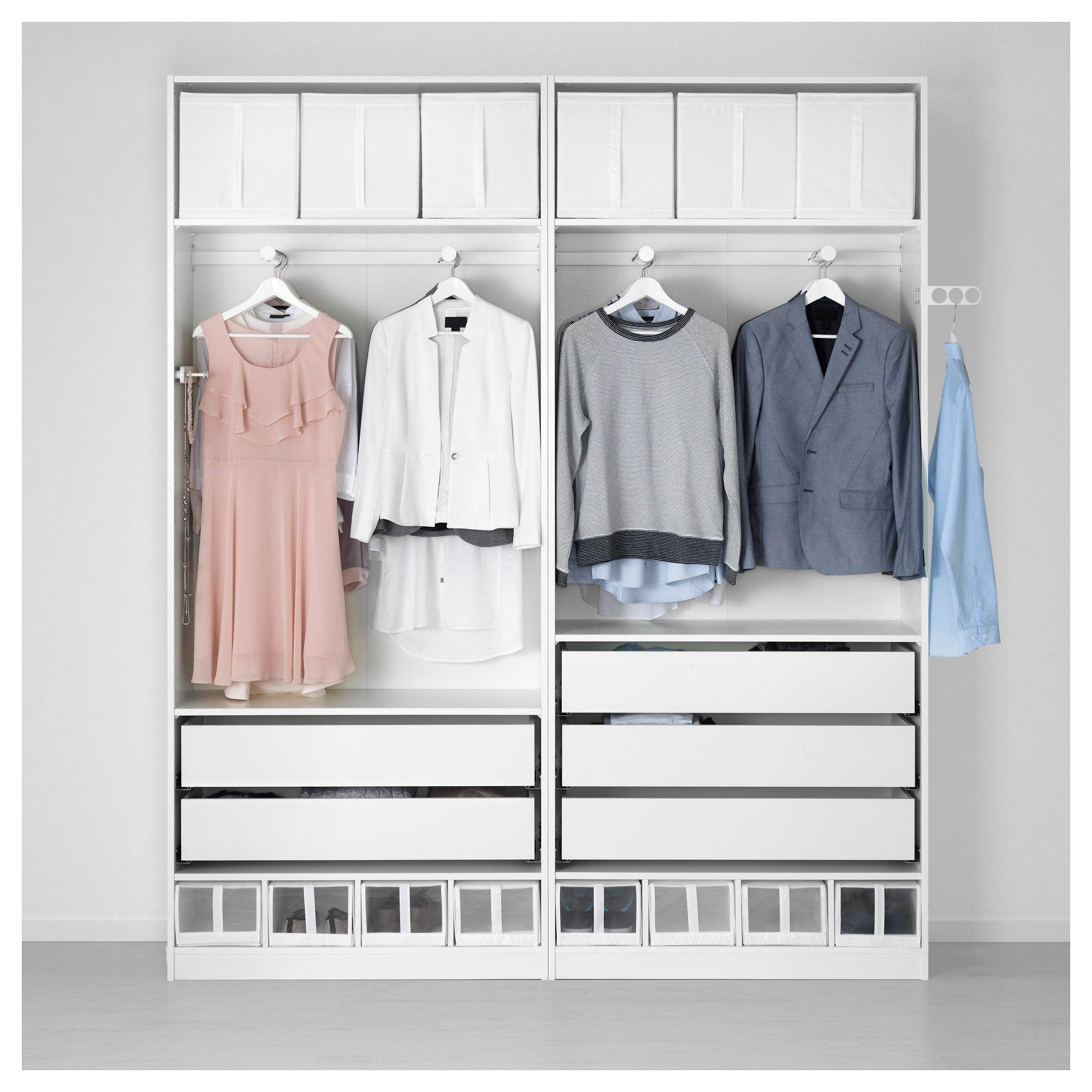 PAX Wardrobe white, Reinsvoll Vikedal 78 3/4x15x93 1/8