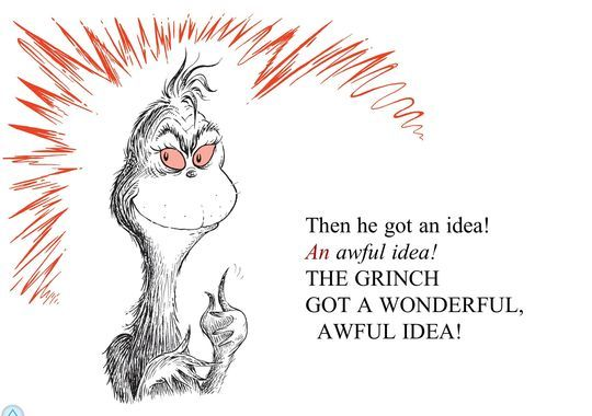 How The Grinch Stole Christmas Book Illustrations.Wonderful Awful Idea Grinch The Grinch Cartoon