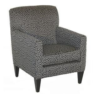 Rowe Chairs And Accents Willet Upholstered Chair With Track Arms   Becker  Furniture World   Upholstered