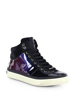 cf33e23a78 Jimmy Choo Belgravi Hologram High-Top Sneakers   Shoe Fetishist ...