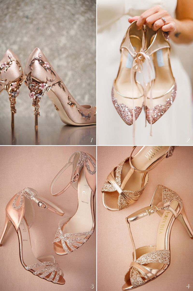 96391e00f5b5ae 26 Stunning Rose Gold Bridal Apparel Ideas! Rose Gold Wedding Shoes