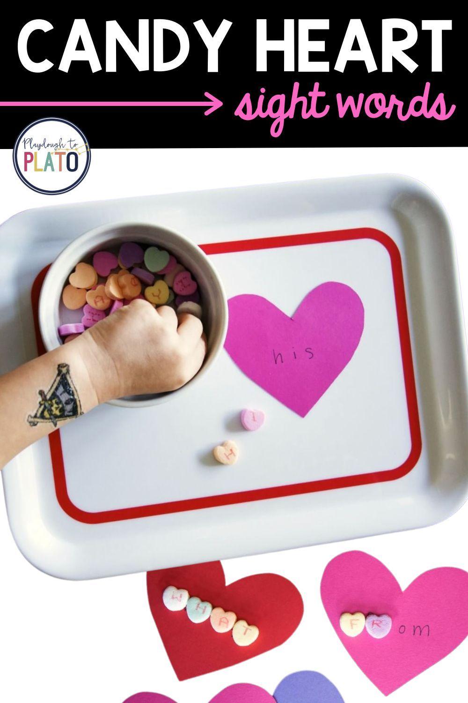 Candy Heart Sight Words Activity Playdough To Plato In 2021 Heart Sight Words Heart Candy Easy Learning Activities [ 1500 x 1000 Pixel ]