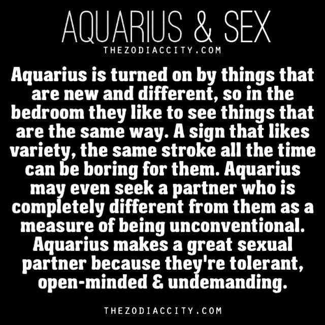 Having sex with a aquarius