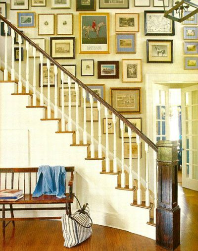 not so much a fun staircase but fun staircase decorating idea ...