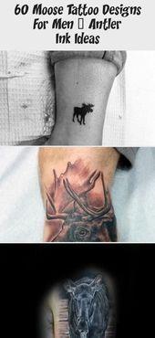 Photo of Kleine Elch Tattoos mit schwarzer Tinte für Männer am Unterschenkel #blacktatt…