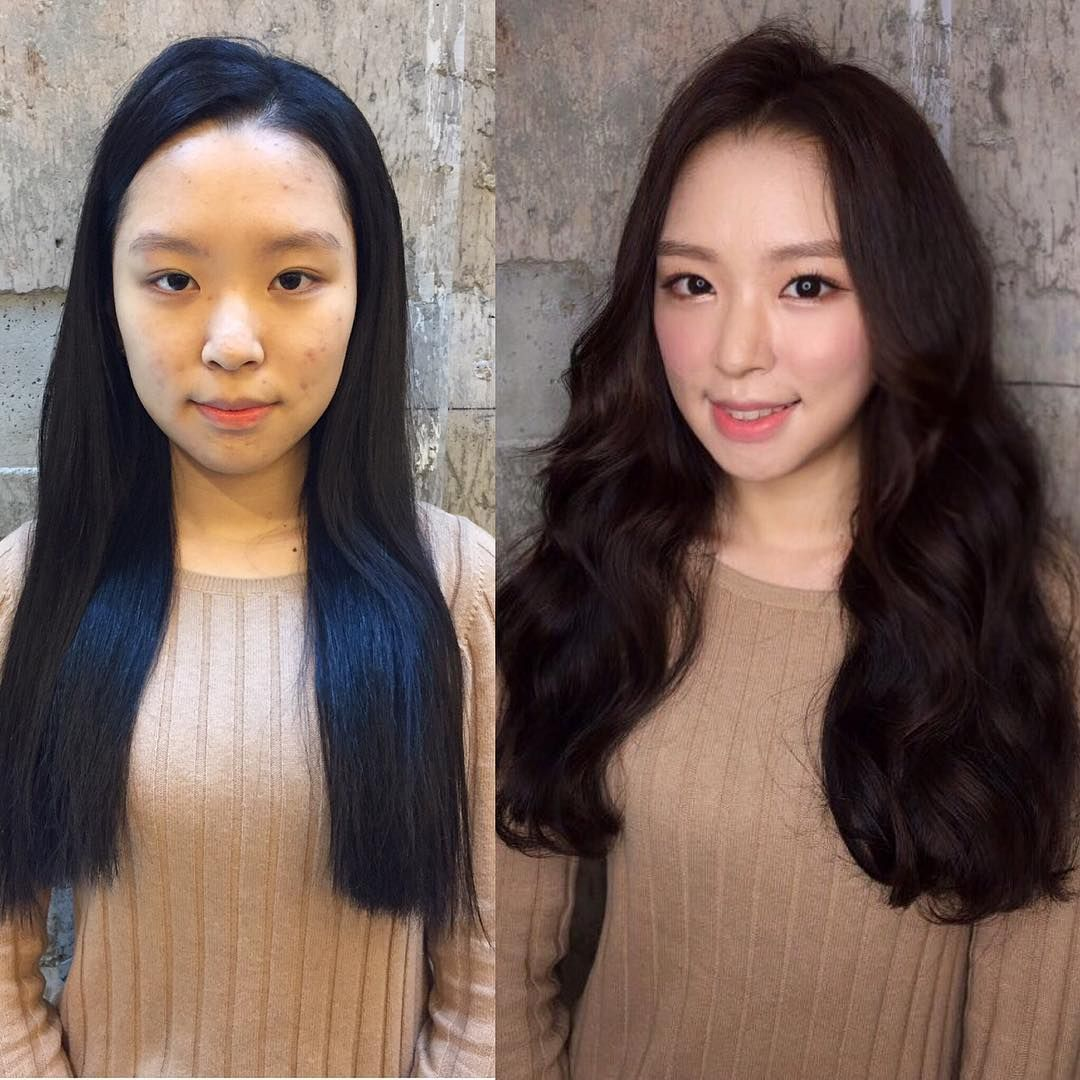 You Ll Be Shocked By These Before And After Korean Makeup Shots Asian Makeup Looks Hair Life Makeup Transformation
