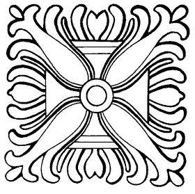Mandalas Para Pintar: Mandala vegetal egipcio I
