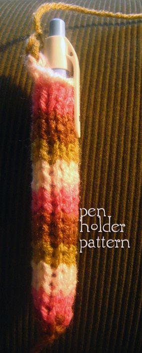 knitted pen holder pattern