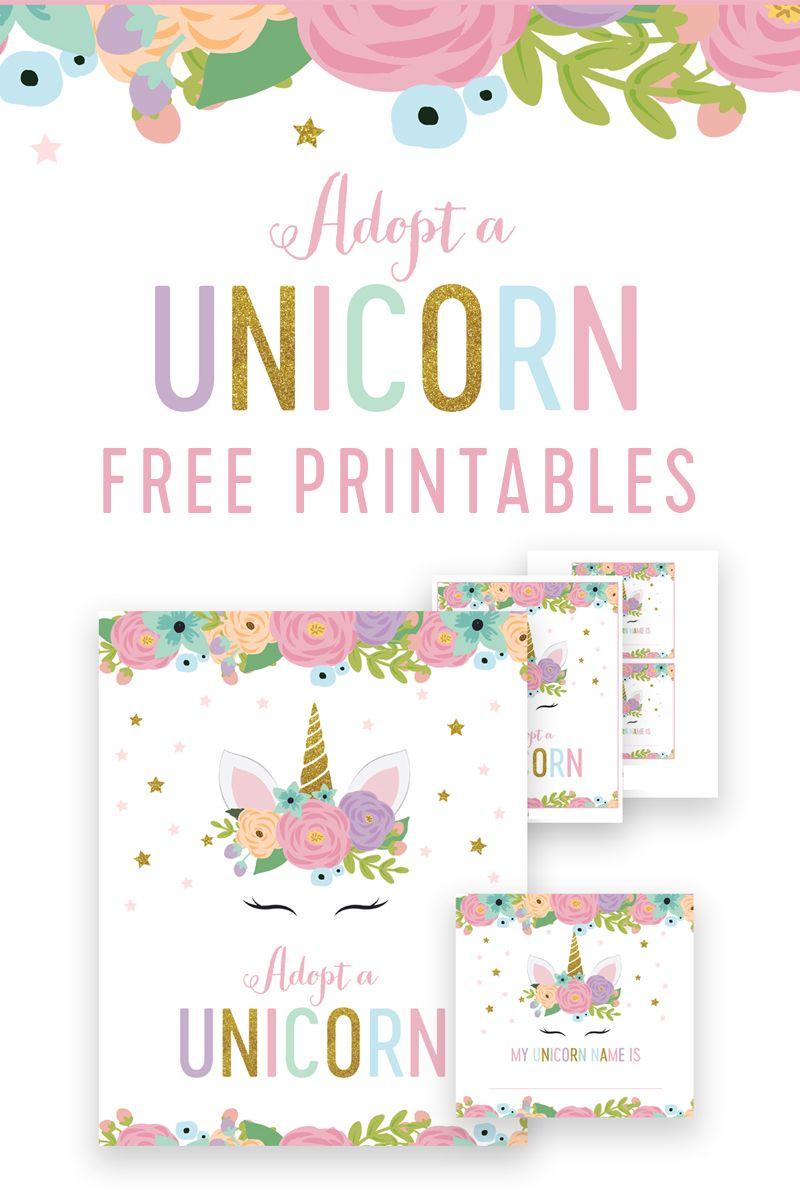 Free Unicorn Birthday Adopt A Unicorn Game Instant Download Printable Printable Market Unicorn Birthday Cards Unicorn Birthday Invitations Unicorn Birthday