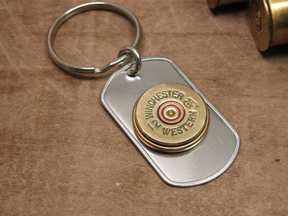 Shotgun Casing Jewelry  Gift for Man  Genuine Vintage by thekeyofa, $24.00