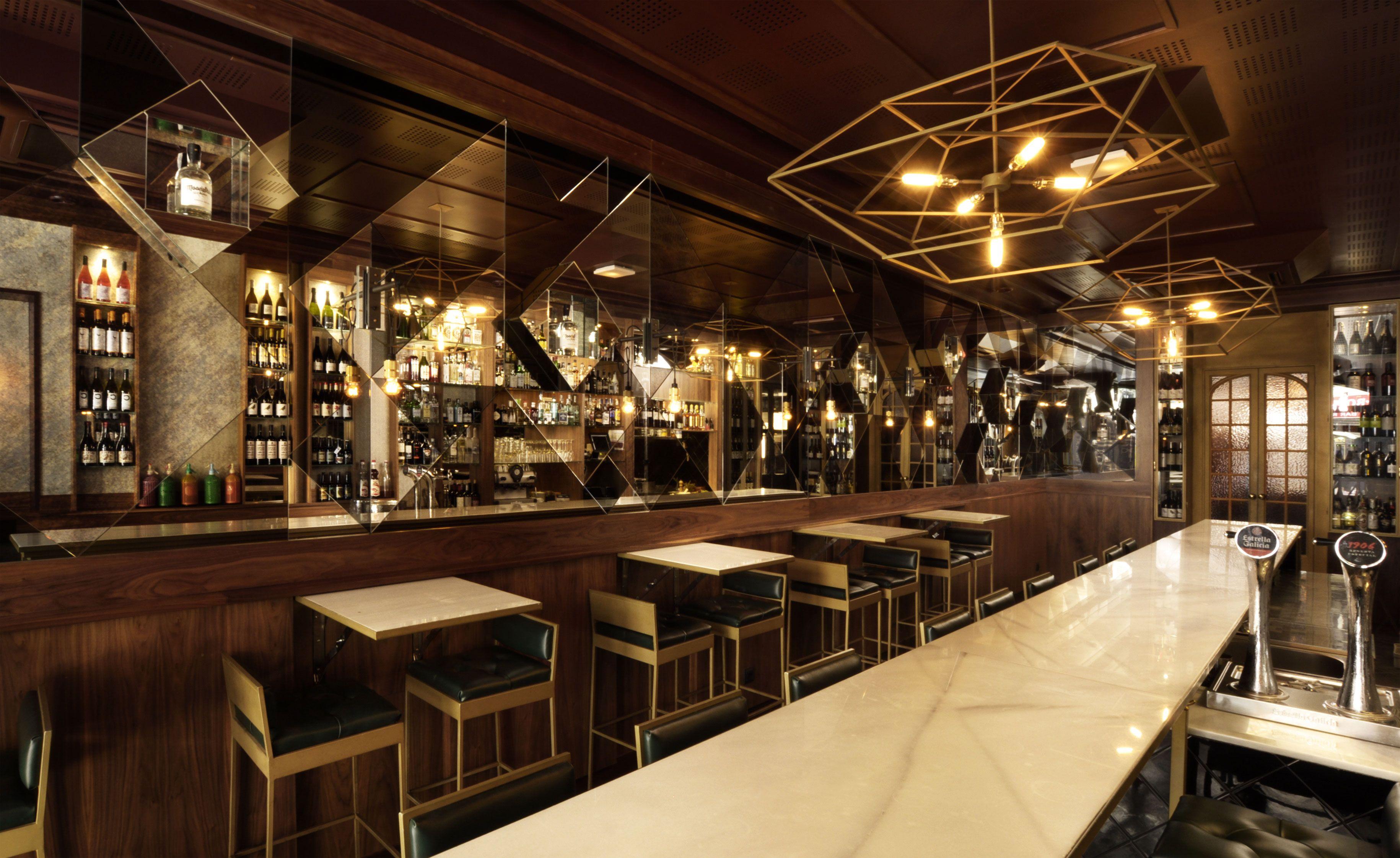 Malamen Barcelona Spain Bar Restaurant Interior Restaurant Bar Wallpaper Magazine