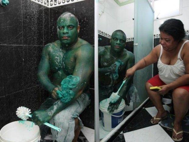 I bet that was a smashing masquerade! Paulo Henrique dos Santos aka The Hulk
