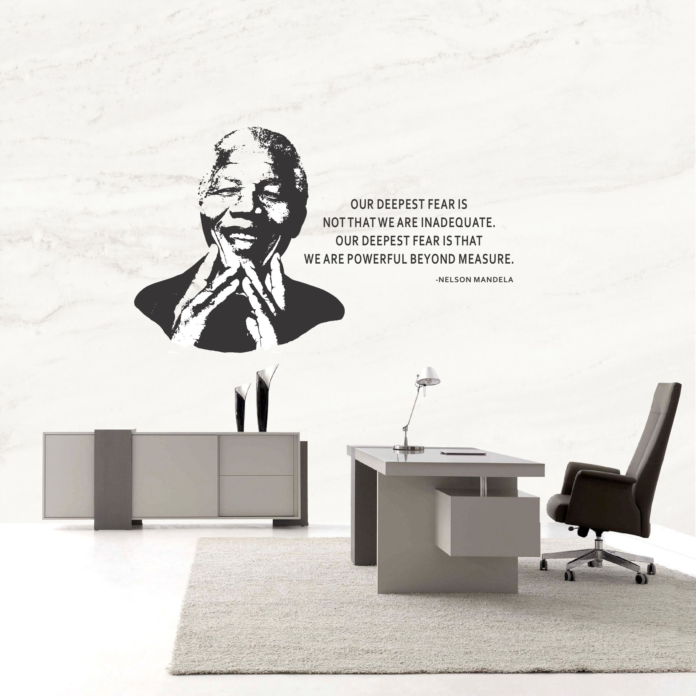 Our Deepest Fear Mandela (QUOT02) - Vinyl Wall Decal. This vinyl wall decal  sc 1 st  Pinterest & Our Deepest Fear Mandela (QUOT02) - Vinyl Wall Decal. This vinyl ...