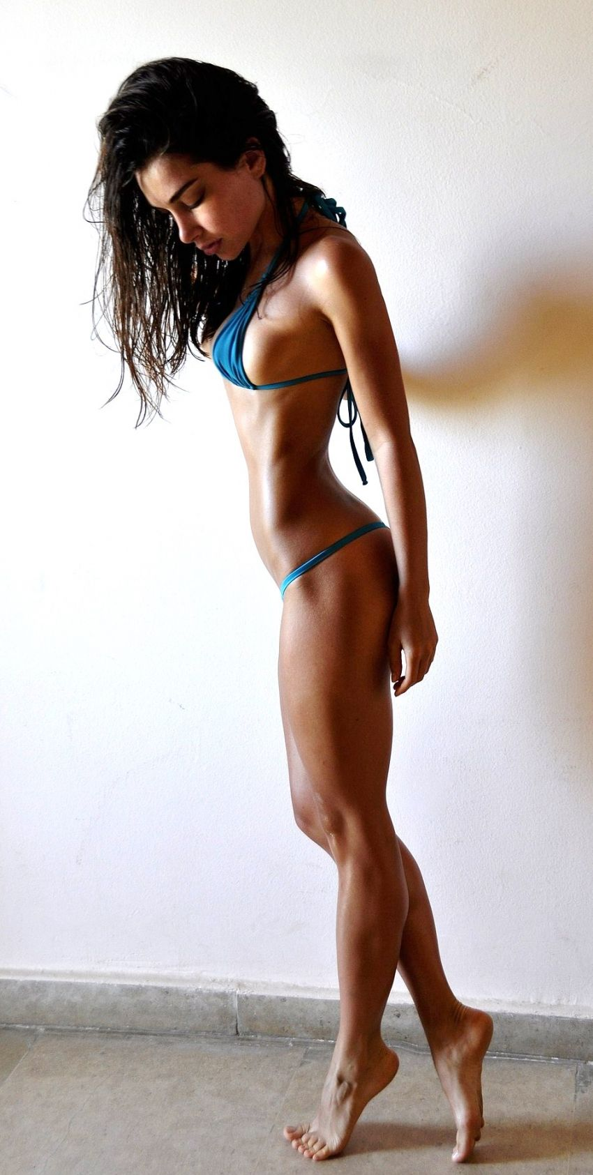 Have perfect body fitness girls selfie rather