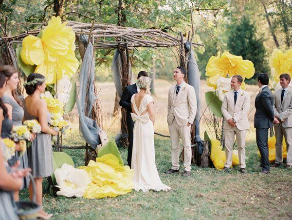 Handcrafted oregon wedding flower decoration weddings and wedding giant handmade paper flower decorations photo by tara francis mightylinksfo Images