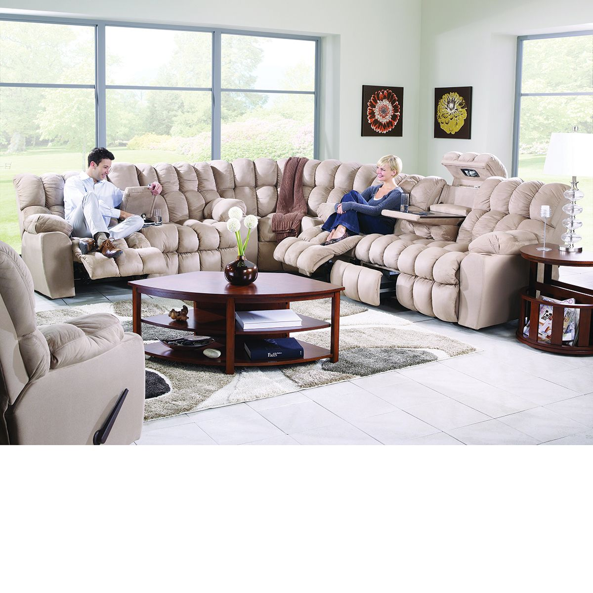 Phenomenal The Dump Furniture Sectional With 4 Reclining Seats Andrewgaddart Wooden Chair Designs For Living Room Andrewgaddartcom