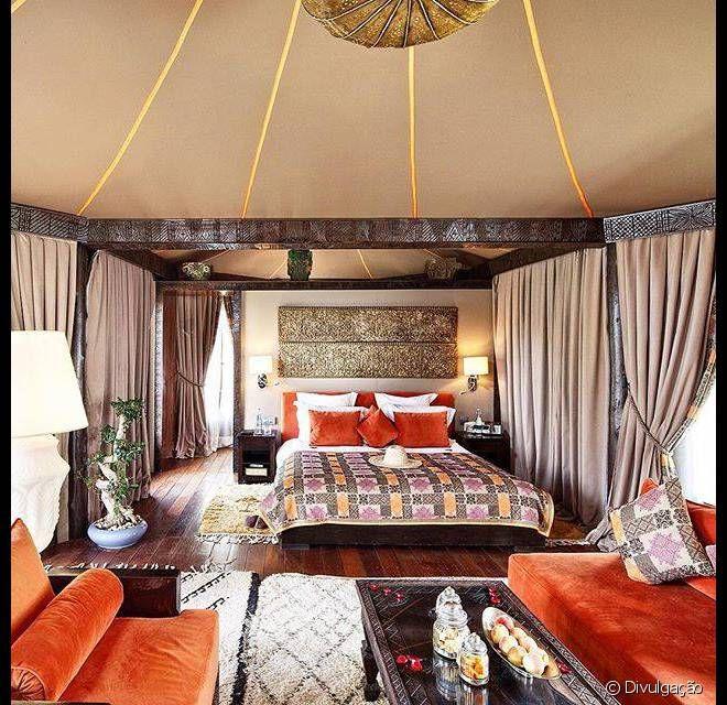 O hotel Kasbah Tamadot está situado aos pés da cordilheira do Atlas, no Marrocos