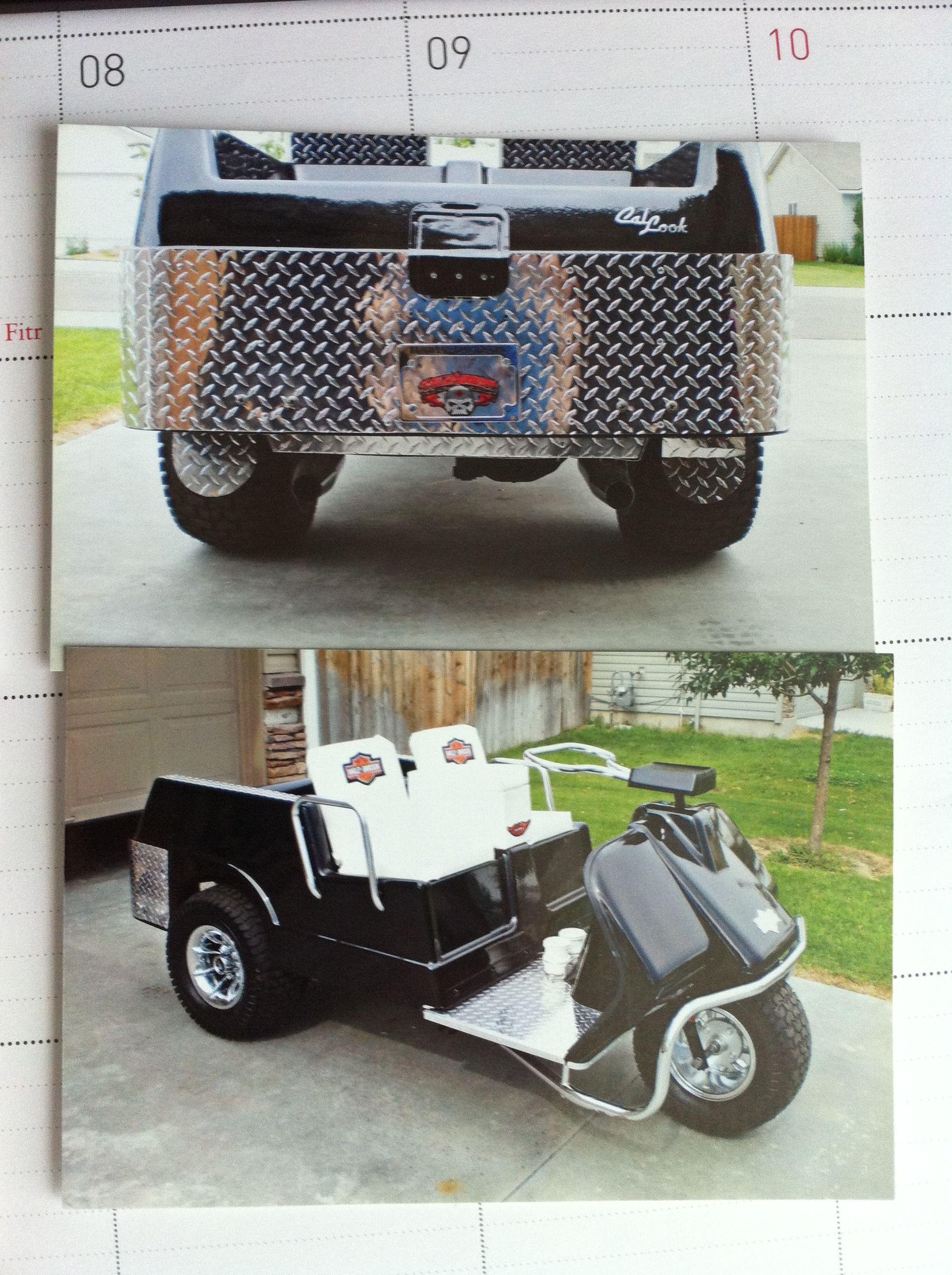 A 1981 Harley Davidson Golf Cart Project Custom Golf Carts Golf Trolley Golf Carts