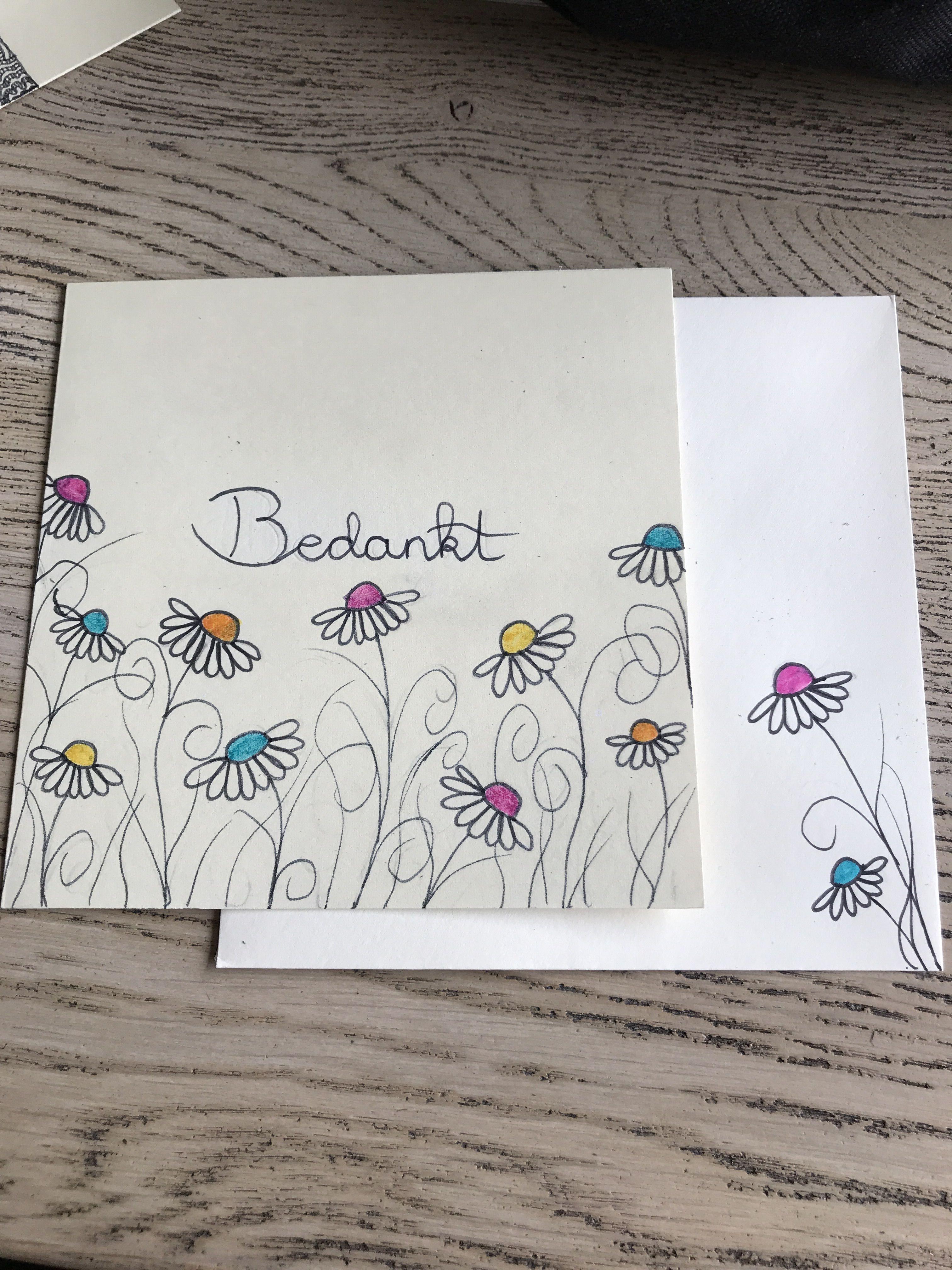 Wonderbaar selfmade #kaartje #bedankt (met afbeeldingen)   Kaarten maken HV-27