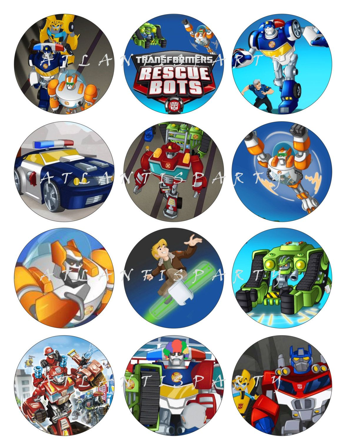 Transformer Rescue Bots Cake Toppers