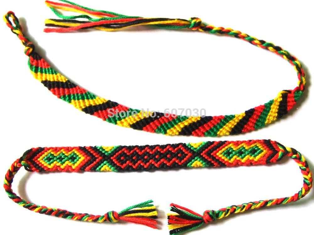 1pcs Rasta Wristband Friendship Bracelet Cotton Reggae Jamaica Surfer Hippie Bob Hobo Affiliate
