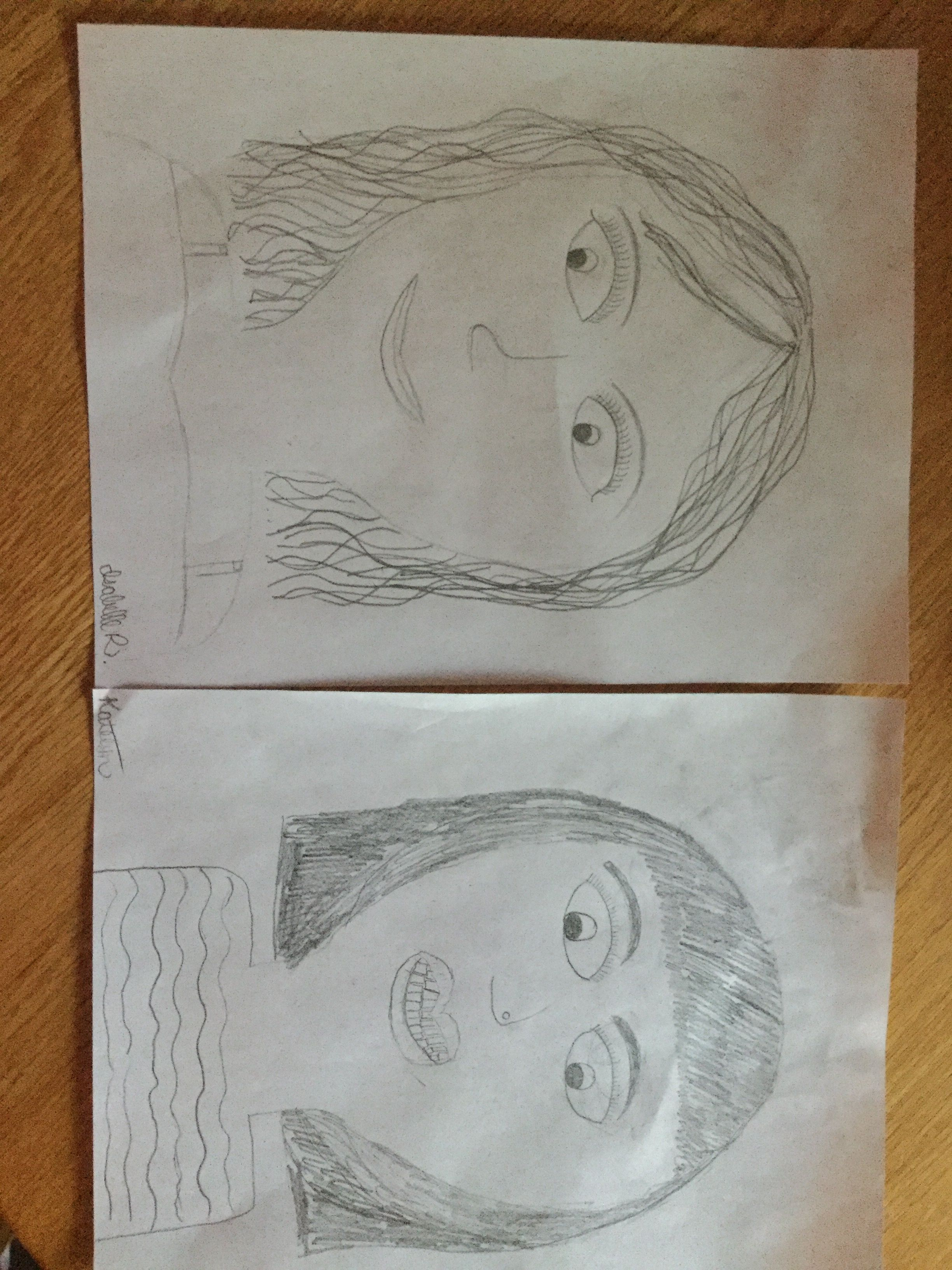 Drawing Of Girls Made By 12 And 11 Year Olds