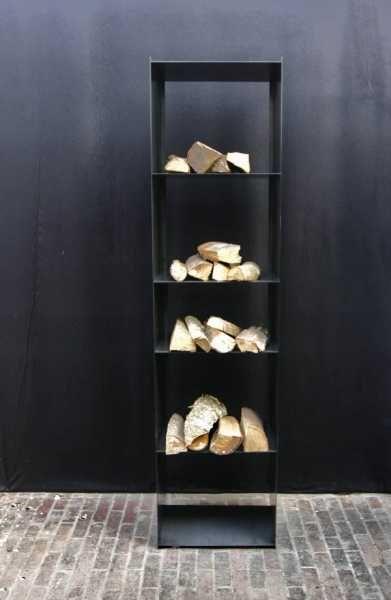 filigranes stahl regal f r kaminholz firewood racks. Black Bedroom Furniture Sets. Home Design Ideas
